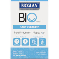 Bioglan BioHappy Daily Cultures Sachets (Pack of 24)