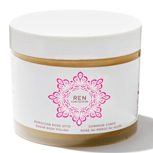 REN Moroccan Rose Otto Sugar Body Polish -sokerikuorinta