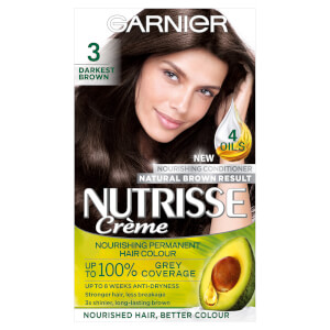 Garnier Nutrisse Permanent Hair Dye - 3 Darkest Brown
