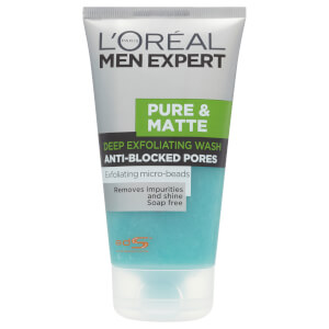 L'Oreal Paris Men Expert Pure & Matte Deep Exfoliating Wash (150ml)