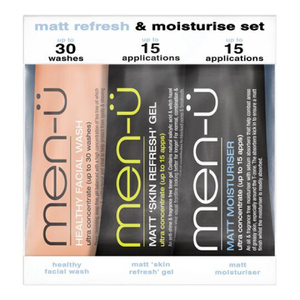 men-u Set 3 x 15ml - Matt Refresh & Moisturize Set