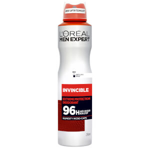 Desodorante en spray Invincible de 96 horas de L'Oréal Men Expert (250 ml)