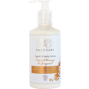 Lotion mains et corps Orange tropicale et bergamote d'Organic Surge (250ml)