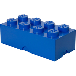 Brique de rangement LEGO® bleue 8 tenons