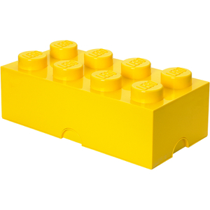 Brique de rangement LEGO® jaune 8 tenons