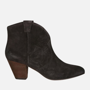 Ash Women's Jalouse Calf Suede Heeled Ankle Boots - Woodash