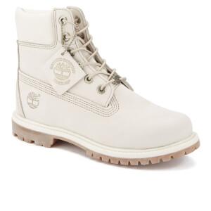 Timberland Women s 6 Inch Premium Boots - Winter White Waterbuck  Image 2 8451c72849