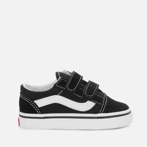 Vans Toddler's Old Skool Velcro Trainers - Black