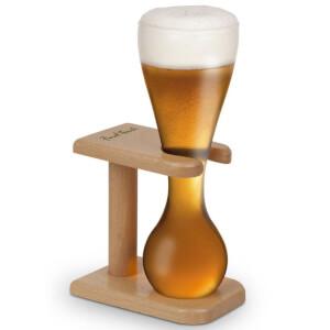 1/4 Yards Bierglas mit Holzständer