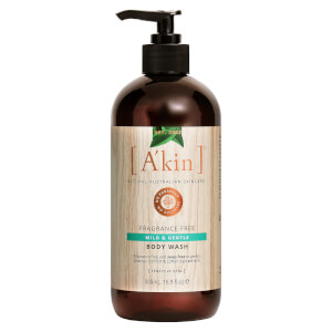 A'kin Uniquely Pure Unscented Very Gentle Body Wash