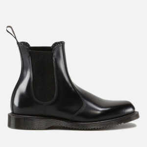 678d4b37f35e44 Dr. Martens Women s Flora Polished Smooth Leather Chelsea Boots - Black