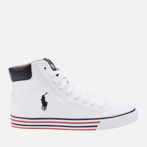 Polo Ralph Lauren Men's Harvey Mid-Ne Hi-Top Trainers - Pure White/Newport Navy
