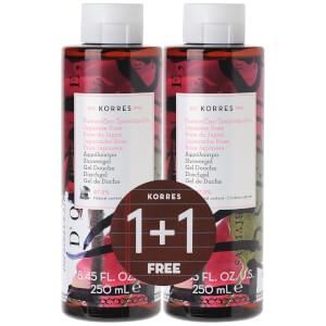 KORRES 1+1 Shower Gel Japanese Rose 250ml x2