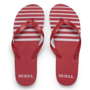 55 Soul Men's Flip Flops - Red