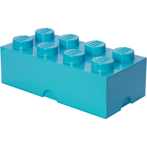 Brique de rangement LEGO® bleue azure 8 tenons