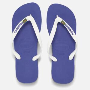 Havaianas Herren Brazil Logo Flip Flops - Marine Blau