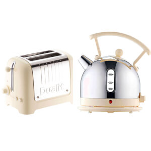 Dualit Dome Kettle and 2 Slot Toaster Bundle - Cream