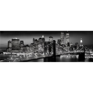 New York Manhattan Black - Berenholtz - Midi Poster - 30.5cm x 91.5cm