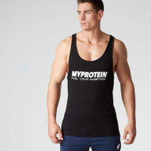 Myprotein Stringer Tanktop - Schwarz