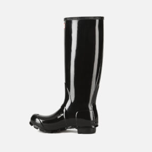 Hunter Women's Original Tall Gloss Wellies - Black: Image 4