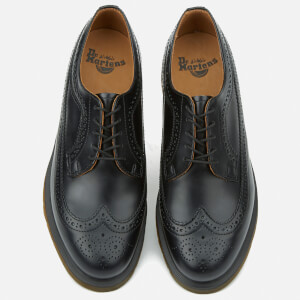 Dr. Martens Men's 3989 Pw Smooth Leather Wingtip Brogues - Black: Image 2