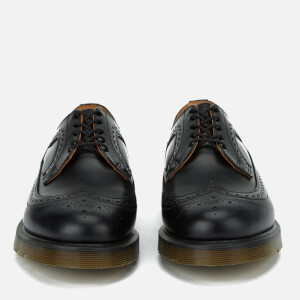 Dr. Martens Men's 3989 Pw Smooth Leather Wingtip Brogues - Black: Image 4