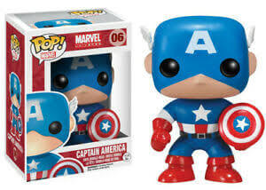 Figura Funko Pop! Capitán América Bobble-Head - Marvel
