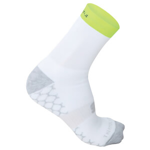 Sportful Pro Mid 9 Socks - White/Yellow Fluo