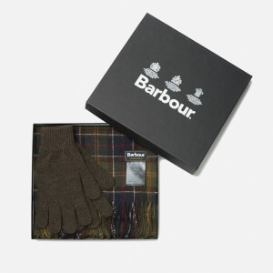 Barbour Men's Scarf and Glove Set - Classic/Olive