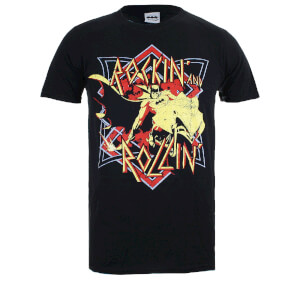 "Camiseta DC Comics Batman ""Rockin' And Rollin'"" - Hombre - Negro"
