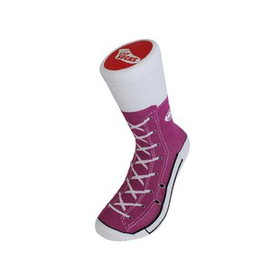 Silly Socks Adult Sneaker - Purple - 3-7