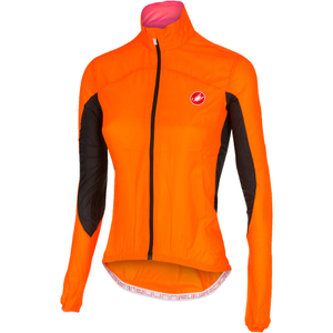 Castelli Women's Velo Windbreaker Jacket - Orange