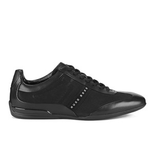 BOSS Green Men's Space Select Leather Trainers - Black