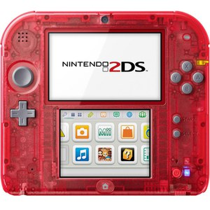 Nintendo 2DS Transparent Red + Pokémon Omega Ruby: Image 4