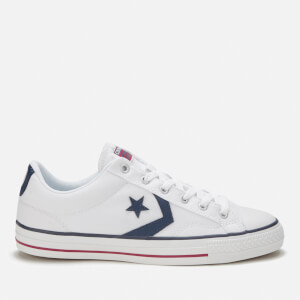 Converse Men's Cons Star Player Canvas Trainers - White/White/Navy