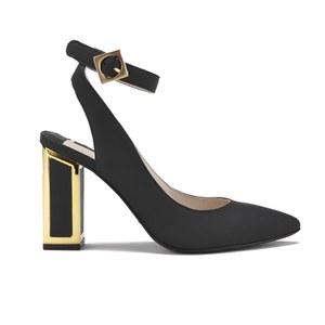 Kat Maconie Women's Amelia Leather Block Heel Ankle Strap Court Shoes - Black