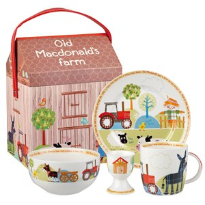 Little Rhymes Old MacDonald Farm 4 Piece Breakfast Set