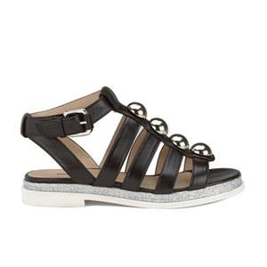 Markus Lupfer Women's Nappa Silver Balls Sandals - Black