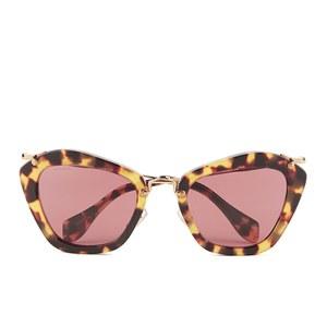 Miu Miu Noir Women's Sunglasses - Yellow Havana