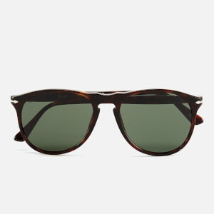 Persol Thin D-Frame Men's Sunglasses - Havana