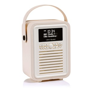 View Quest Retro Mini Bluetooth DAB+ Radio in Cremefarben