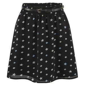 ONLY Women's Stardust Short Skirt - Black Print