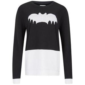 Zoe Karssen Women's Contrast Bat Sweatshirt - White/Black