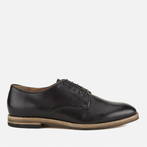 Hudson London Men's Hadstone Leather Plain-Toe Shoes - Black