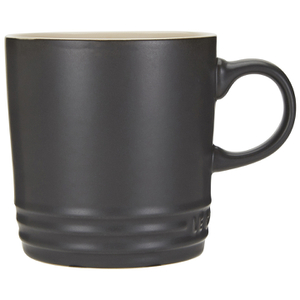 Le Creuset Stoneware Mug, 350ml - Satin Black