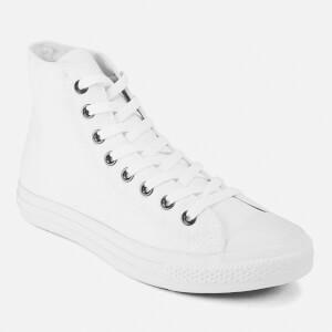 converse unisex. converse unisex chuck taylor all star canvas hi-top trainers - white monochrome: image