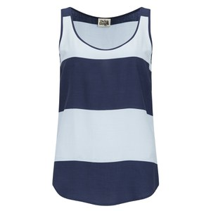 Twist & Tango Women's Ida Vest Top - Light Blue Stripe