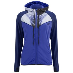 Myprotein Printed Panel Zip Through Hoody Kvinnor - Blå