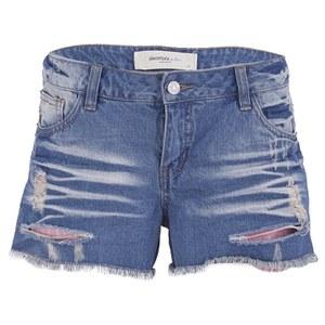 Vero Moda Women's Paula Neon Denim Shorts - Blue