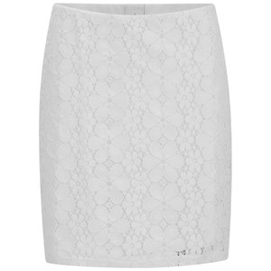 Vero Moda Women's Floral Lace Skirt - Snow White